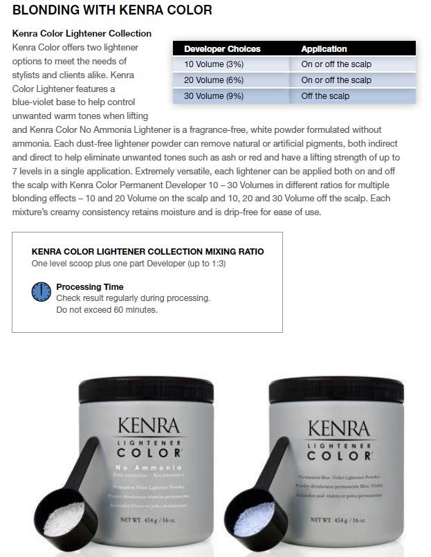 Kenra Demi Permanent Color Chart Elegant Logics Dna System Imprints Celucent Of