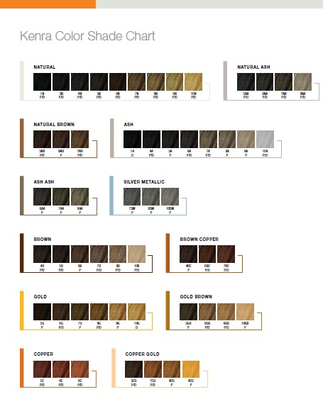 Kenra Hair Color Chart Dark Brown Hairs