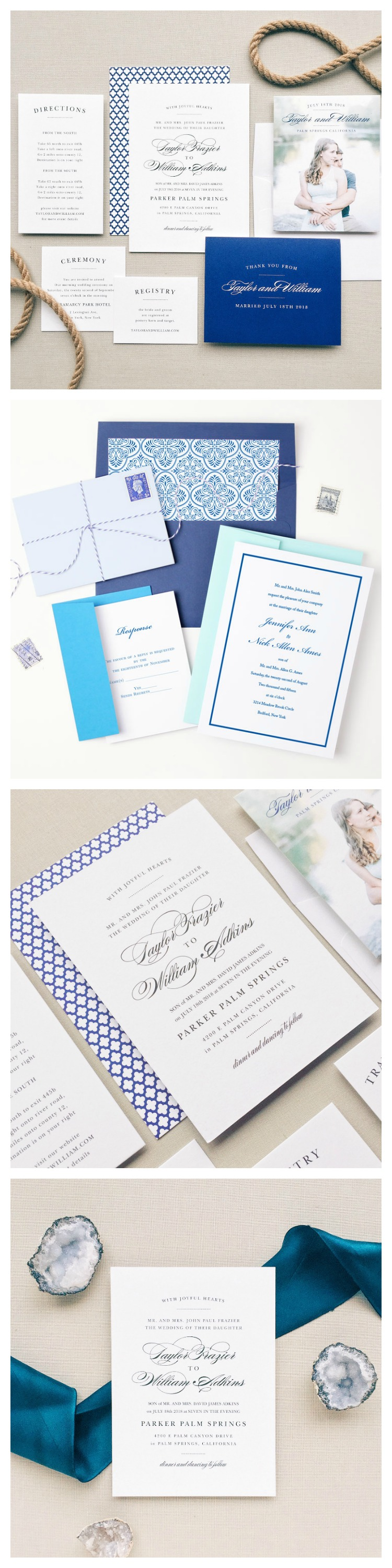 Beauty Inspired Wedding Stationery | Confessions of a ...