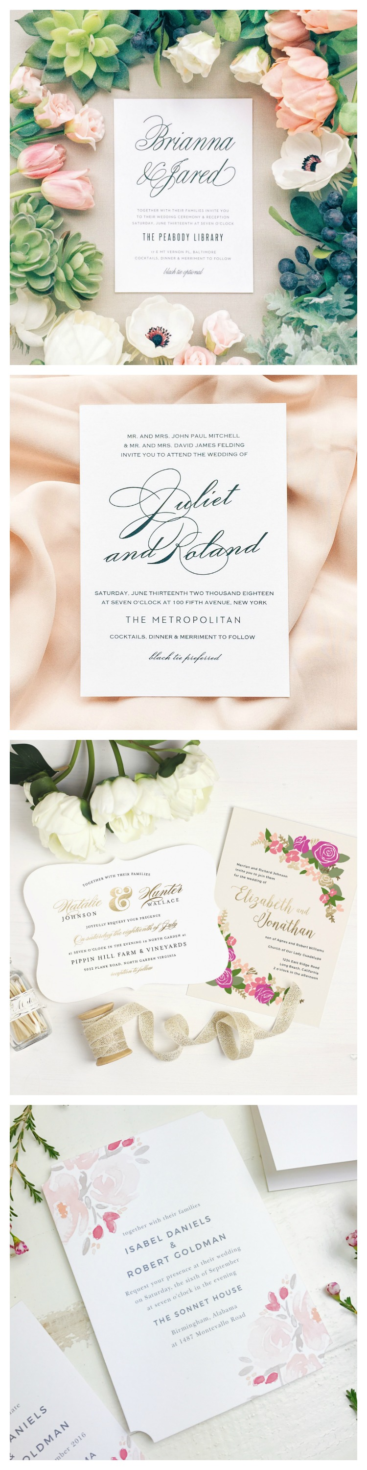romatic wedding invitations Beauty Inspired Wedding Stationery Confessions