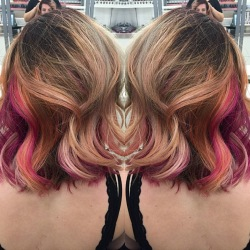 Rose Gold Hair Color w/ Pravana Vivids & Pastels