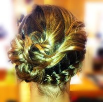Wrap-around Braided Updo