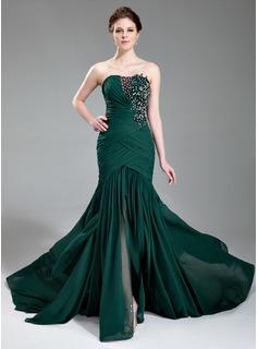 Emerald Mermaid Chiffon Dress