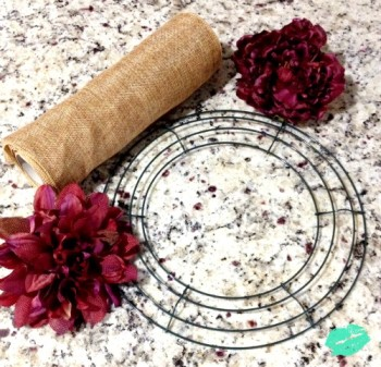 DIY-Burlap-Wreath-Flowers