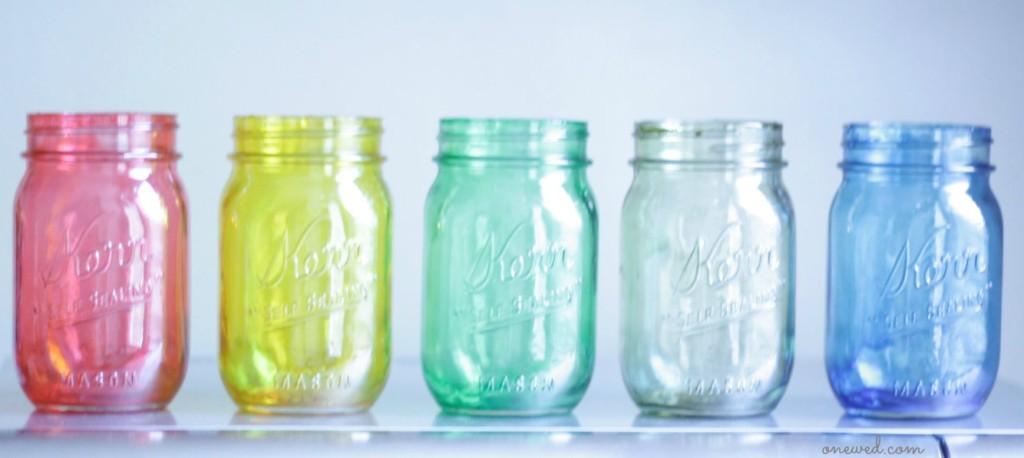 Colorful-Mason-Jars